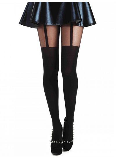 Pamela Mann Plain Stripe Suspender Tights - Available in Medium,  XL & XXL