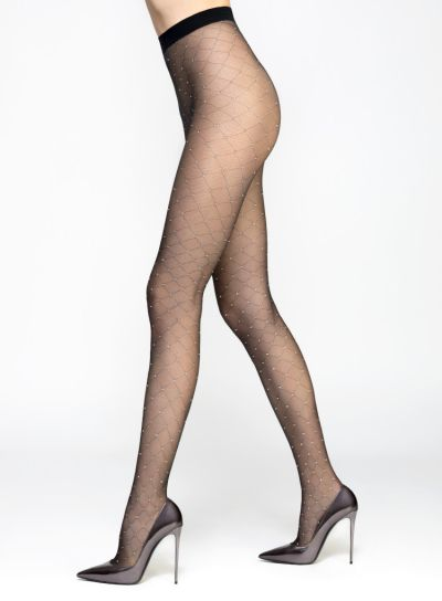 Pierre Mantoux Pois Lurex Tights