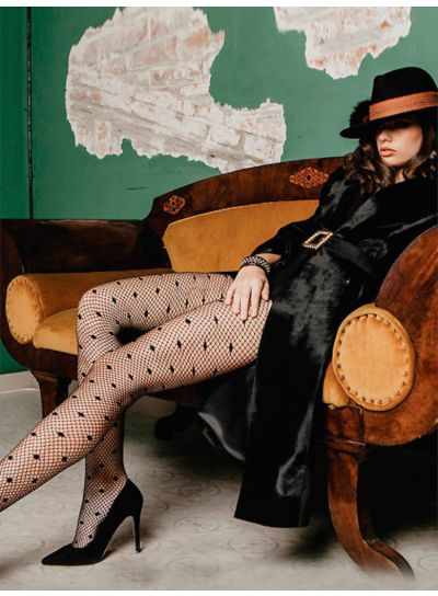Cecilia de Rafael Pretty Polka Dot Fishnet Tights