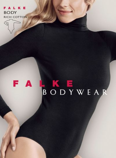 Falke Shining Rich Cotton Long Sleeved Bodysuit