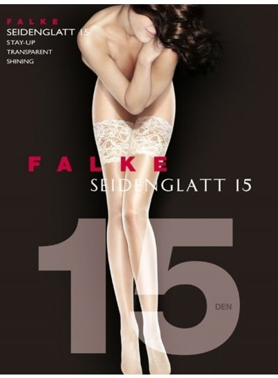 Falke Seidenglatt 15 Deep Lace Top Hold Ups