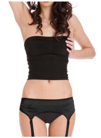 Silky-4-Strap-Satin-Suspender-Belt