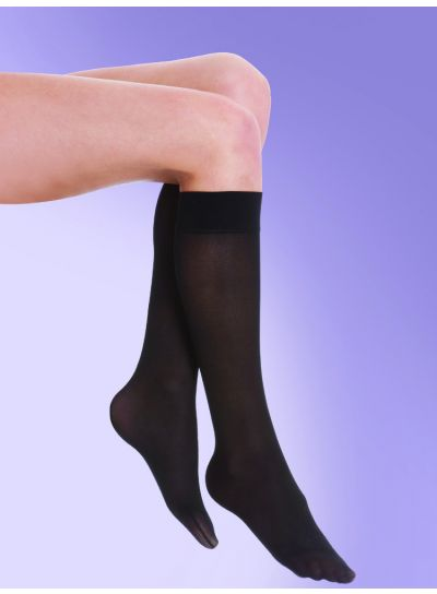 Silky 40 Denier Medium Support Flight Socks