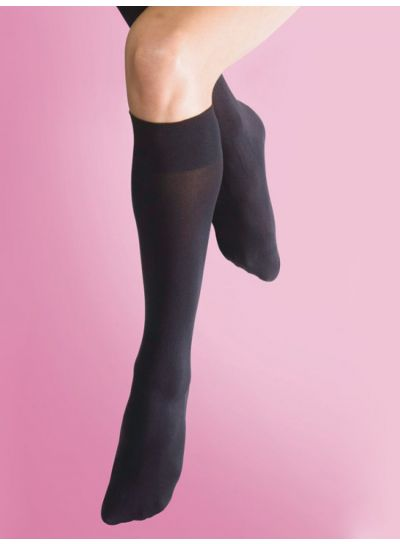 Silky Soft Opaque Knee Highs