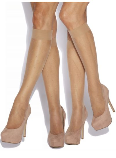 Charnos Fashion Knee Highs Socks 2 Pair Pack - Hosiery Outlet
