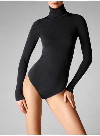 Wolford Colorado G String Long Sleeved Black Bodysuit