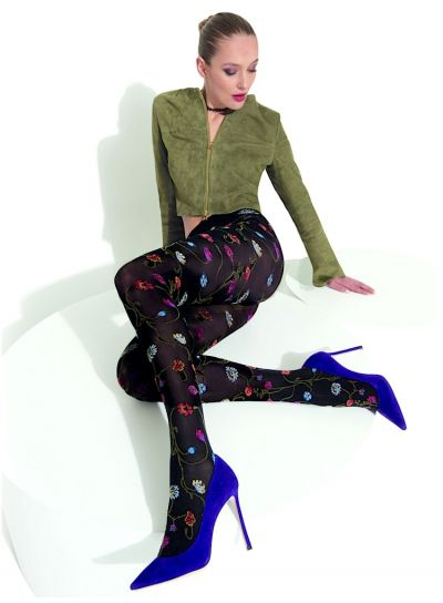 Trasparenze Platino Patterned Tights Opaque Tights decorated with all over flower pattern