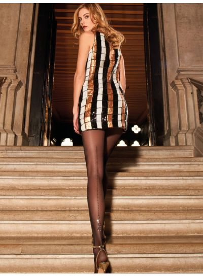 Trasparenze Afrodite Backseam Tights with Ankle Jewels