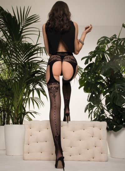 Trasparenze Black Strip Panty