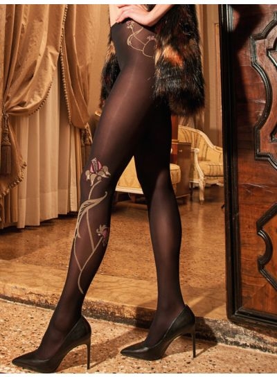 Trasparenze Laerte Flower Design Tights