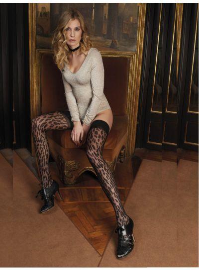 Trasparenze Malvasia Leopard Print Hold Ups