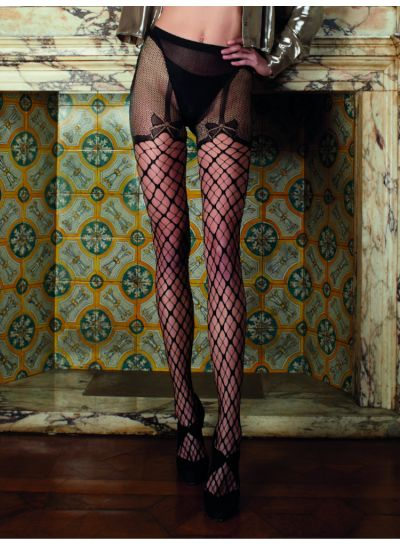 Trasparenze Merlot Fishnet Strip Panty Tights