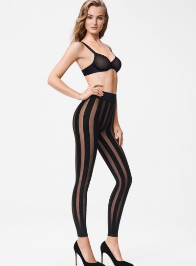 Wolford Victoria Striped Leggings