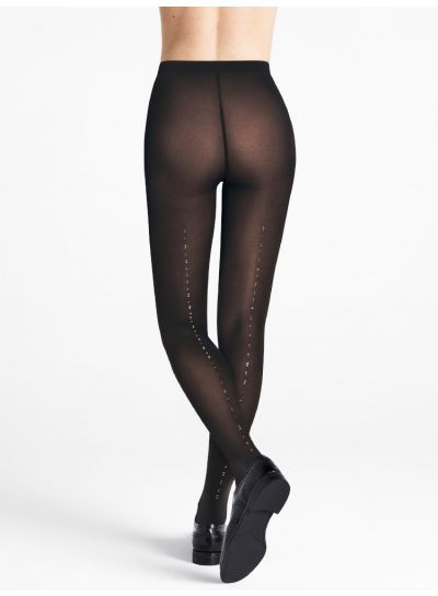 Wolford Crystal Blaze Back Seam Tights
