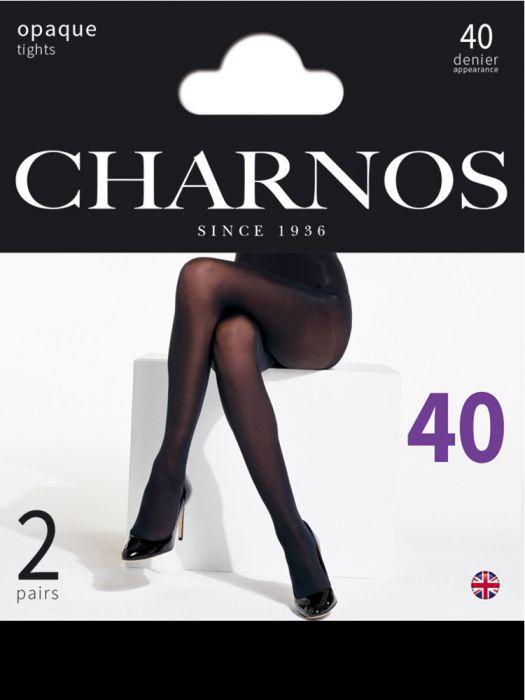 725bd051a4199e Charnos 40 Denier Tights 2 Pair Pack | The Tight Spot