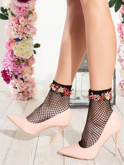 6c01f0a1c Trasparenze Daffodil Fishnet Ankle High Socks