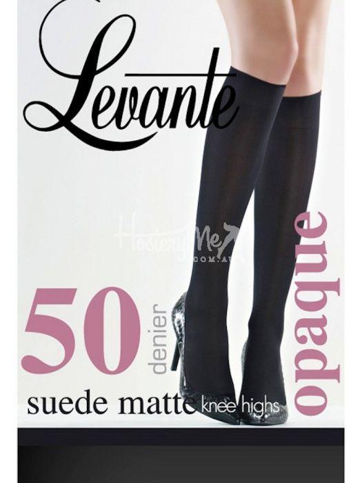14e3610a227 Levante Suede Matte Opaque Knee Highs