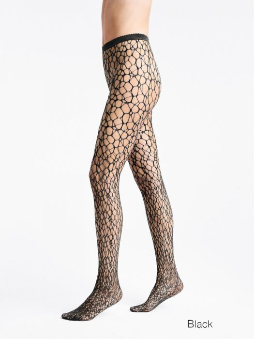 Levante Fishnet Knee Highs Black 1 Pair. 83/% Polyamide 17/% Elastane