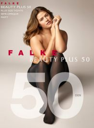 Ladies 1 Pair Falke Beauty Plus 50 Denier Semi Opaque Tights