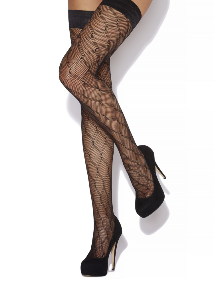 "Image of ""Charnos Diamond Fishnet Hold Ups"""