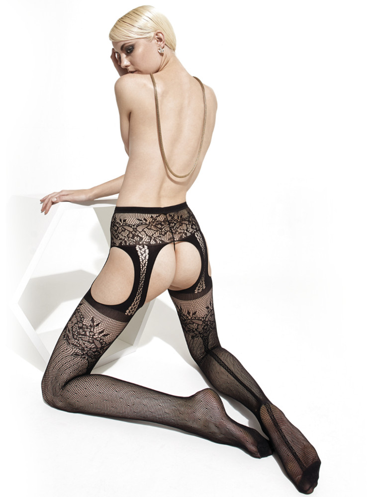 Trasparenze Fiordaliso Fishnet Strip Panty Tights