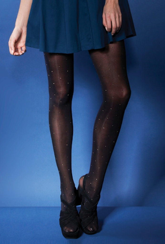 Charnos Opaque Lurex Sparkle Spot Tights