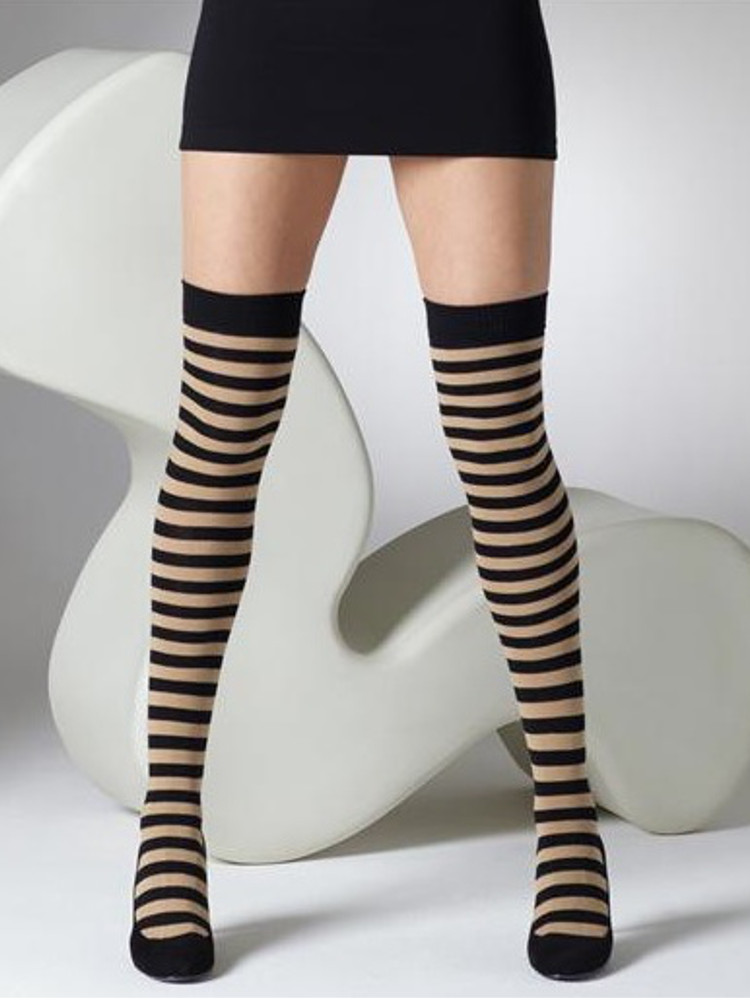 Gipsy Striped Over The Knee Socks