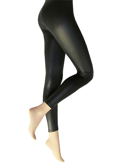 Silky Leather Look Leggings