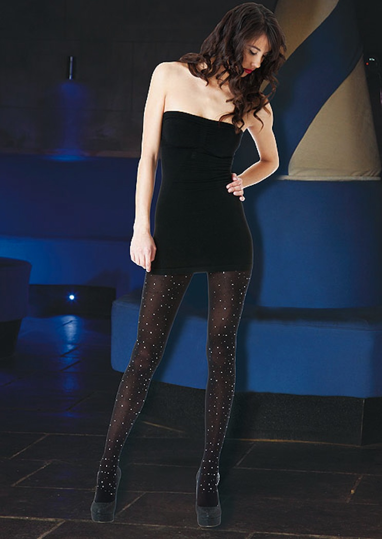Pantyhose with glitter