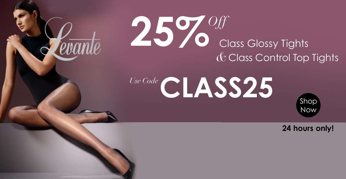 Shiny tights with 25% off