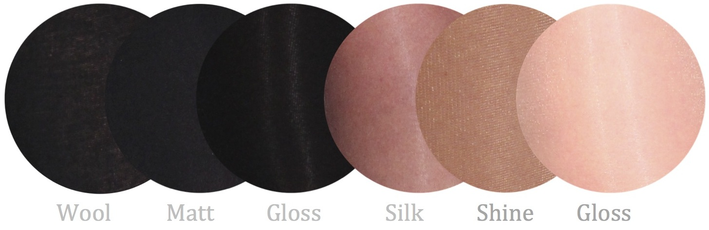 different hosiery finishes