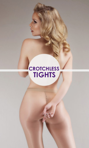 Crotchless Tights Buy Crotchless Tights with no gusset. Huge range of open crotch pantyhose. Free Worldwide Shipping from The Tight Spot