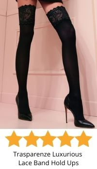 Trasparenze luxurious lace top hold ups