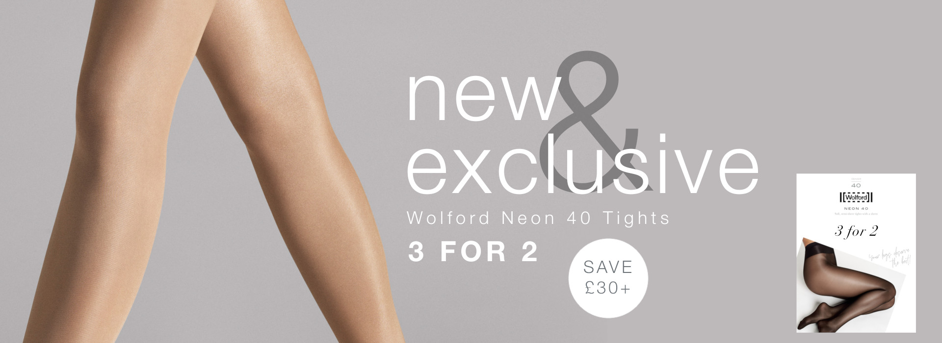 wolford neon 40 3 for 2