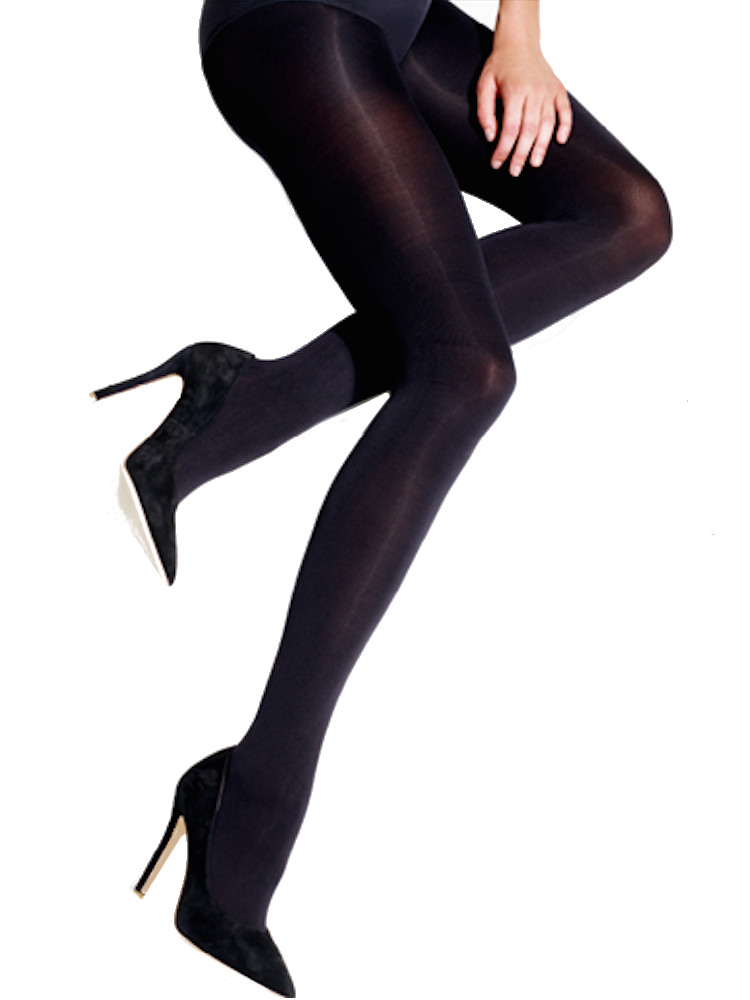 Image of Charnos NEW 100 Denier Opaque Tights-Black-Large