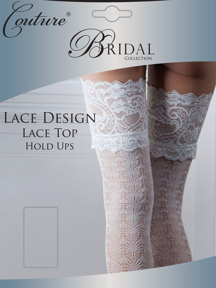 Image of Couture Bridal Lace Top Hold Ups-Medium-Ivory