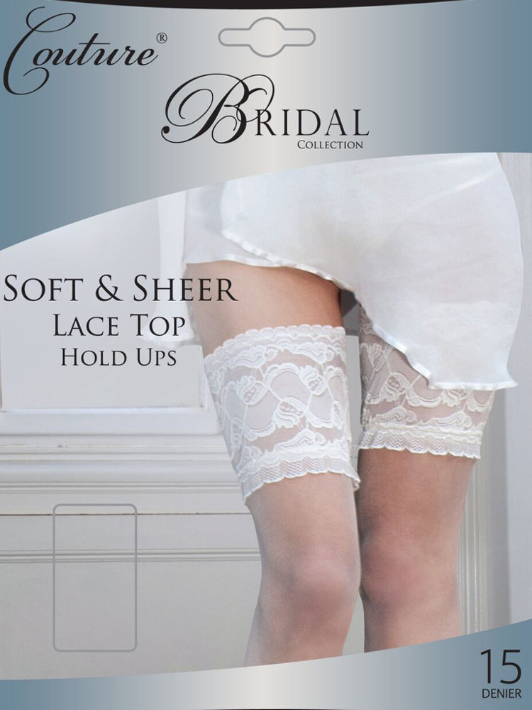 Image of Couture Bridal Soft & Sheer Lace Top Hold Ups-Medium-Ivory