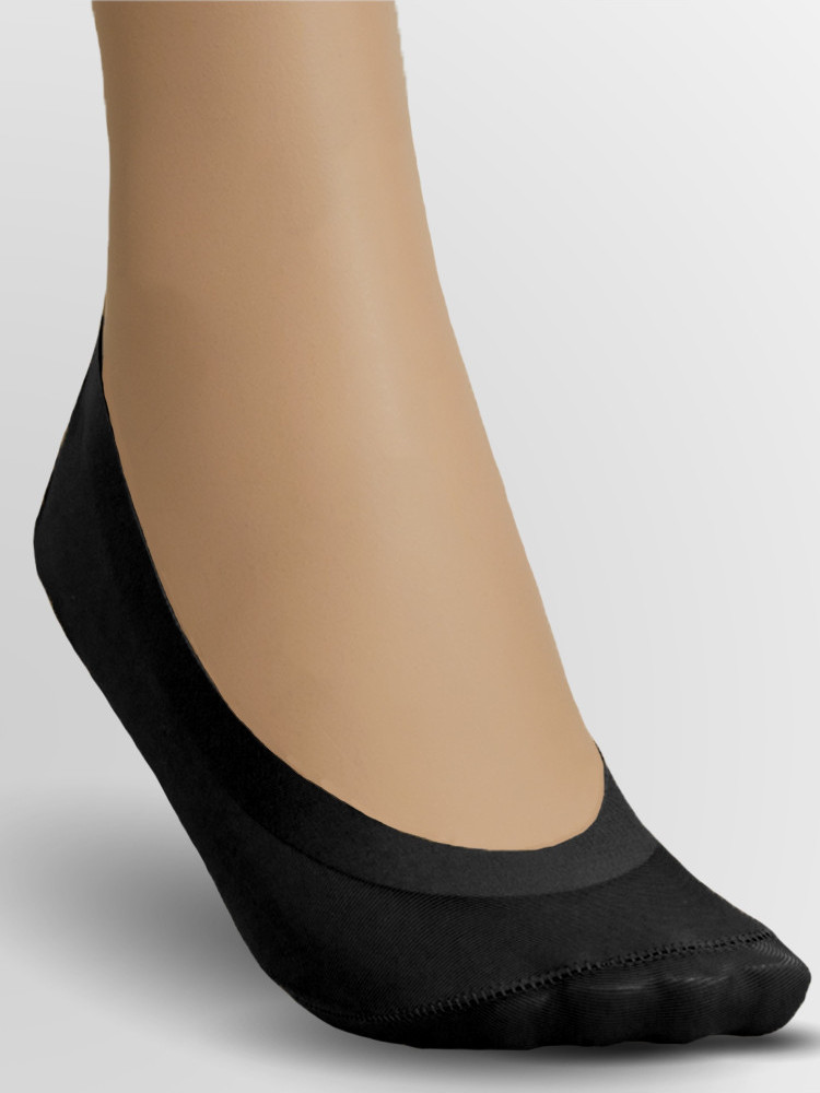 Image of Couture Luxury Footlets 2 Pair Pack-Black-One Size