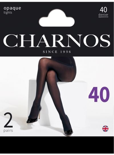 Charnos 40 Denier Opaque Tights 2 Pair Pack