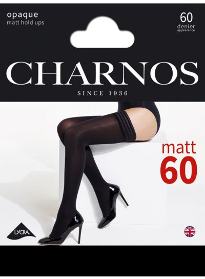 Charnos 60 Denier Black Opaque Stay Ups