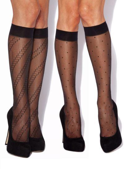 Charnos Fashion Trouserwear Knee Highs, 2 Pair Pack