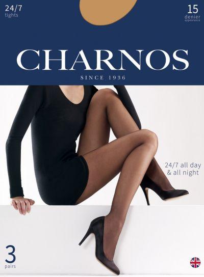 Charnos 24/7 15 Denier 3 Pair Pack Sheer Tights, S, M, L, XL, XXL