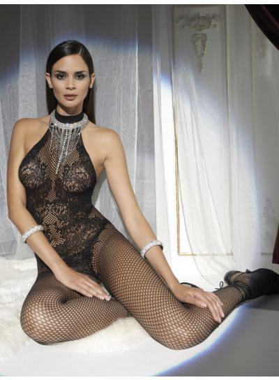 Trasparenze Doina Net and Lace Bodystocking