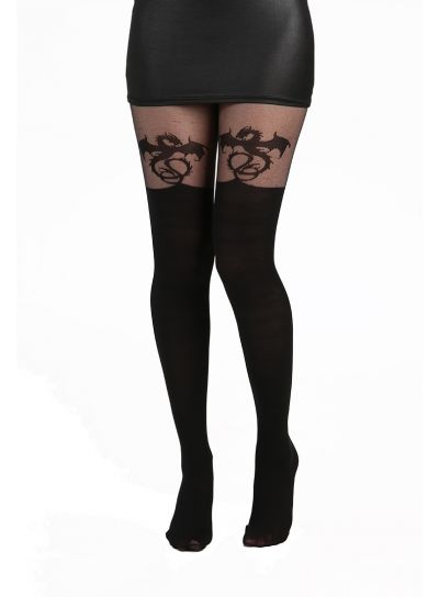 Pamela Mann Alchemy Dragon Over The Knee Tights