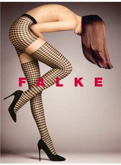 Luxury Falke Tights Patterned with Houndstooth Design