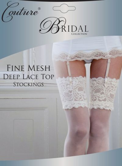 Couture Bridal Fine Mesh Stockings - Hosiery Outlet