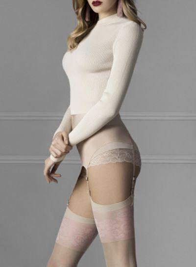 Fiore-Blush-20 Denier-Stockings-Linen