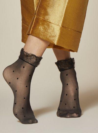 Fiore Rosa Polka Dot Patterned Socks