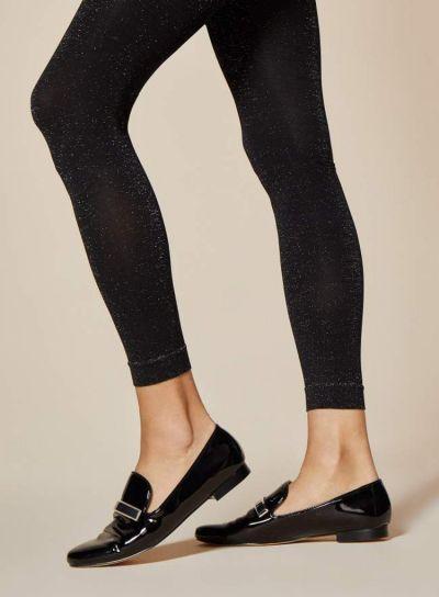 Fiore Wish Metallic Gloss Black Leggings