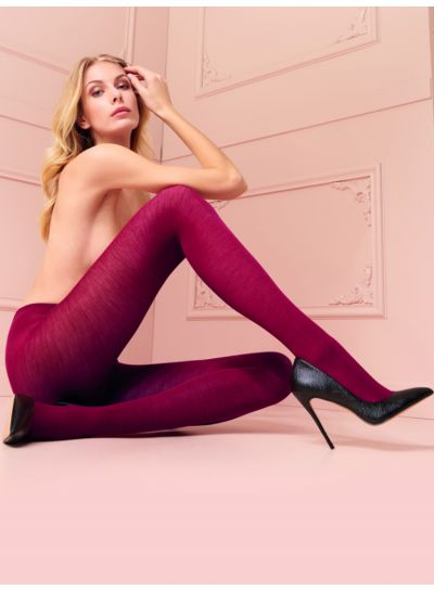 Trasparenze Gennifer Red Merino Wool Tights Available in XL and XXL